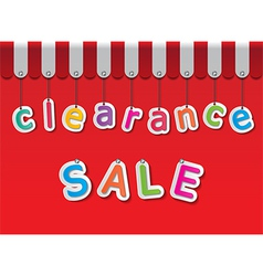 clearance sale vector image