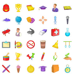 College icons set cartoon style vector