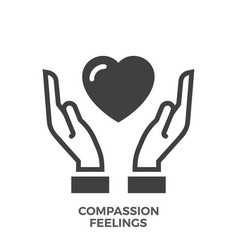 Compassion feelings glyph icon vector
