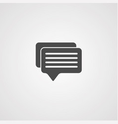 conversation icon sign symbol vector image