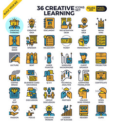 Creative learning icons vector