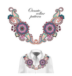 design for collar shirts shirts blouses vector image