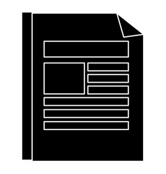Document paper isolated icon vector