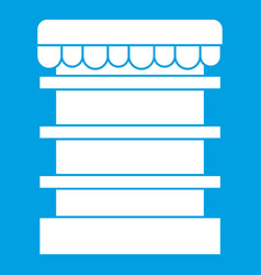 Empty supermarket refrigerator icon white vector