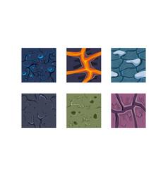 flat set textures for platform game vector image