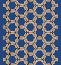 Geometric pattern in blue vector