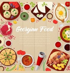 georgian cuisine traditional food with khachapuri vector image