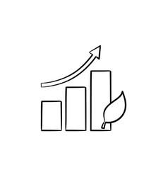 Growth arrow hand drawn sketch icon vector