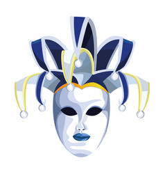 Harlequin mask icon colorful design vector