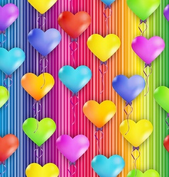 Hearts balloons vector
