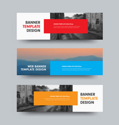 horizontal web banners design with place vector image