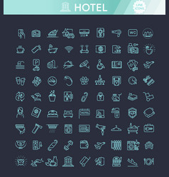 hotel services concept vector image