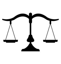 icon balance vector image