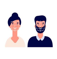 Id system facial identification flat biometric vector