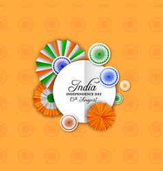 India independence day decoration greeting card vector