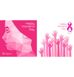 international womens day greeting card design vector image