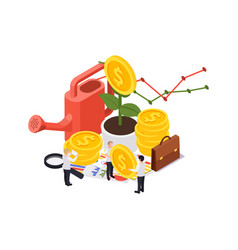Isometric wealth growth composition vector