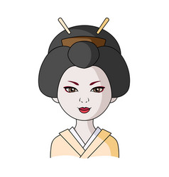 japanesehuman race single icon in cartoon style vector image
