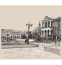 Kiev historical building vector