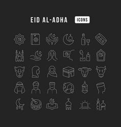line icons eid al-adha vector image