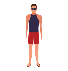 Man wearing summer clothes vector