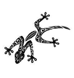 Maori style gecko tattoo vector