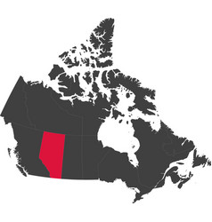Map of canada - alberta vector