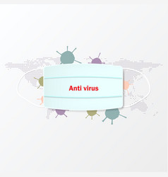 Mask virus protection vector