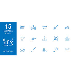 Medieval icons vector