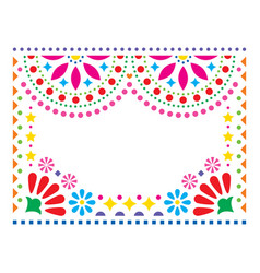 mexican greeting card on wedding party vector image