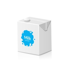 Milk packet isolated on white background of carton vector