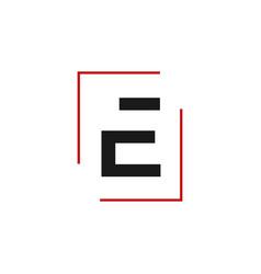modern creative e initial letter e logo graphic vector image