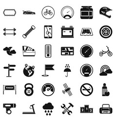 Motor icons set simple style vector