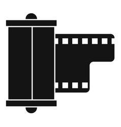 negative film camera icon simple style vector image