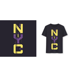 new york city graphic modern t-shirt design vector image