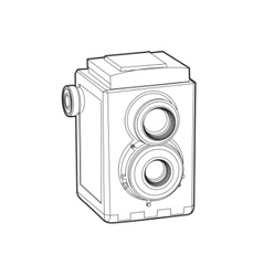 old classic camera vector image