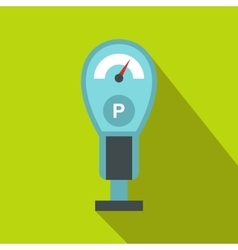 Parking meters icon in flat style vector