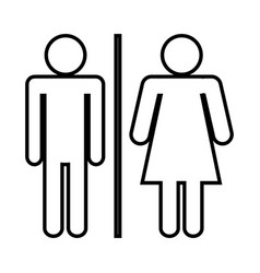 Pictogram woman and man icon vector