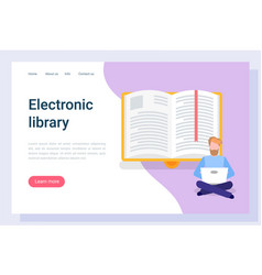 Reading online e-book and e-learning pc vector