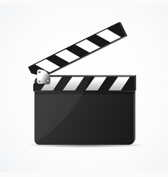 realistic 3d detailed black clapper clean template vector image