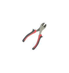 realistic pliers element of vector image