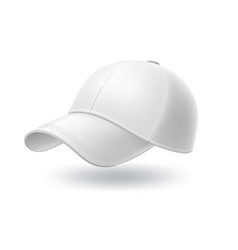 realistic white baseball cap mock up vector image