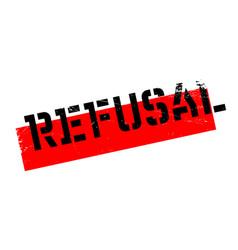 Refusal rubber stamp vector