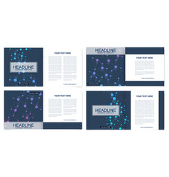 scientific templates square brochure magazine vector image
