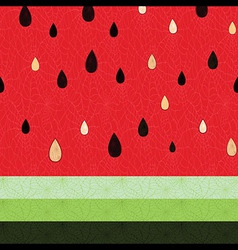 Seamless watermelon fruit pattern vector