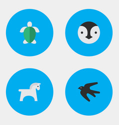 Set of simple animals icons vector
