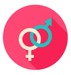 sex circle icon vector image