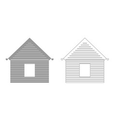 Siding front set icon vector