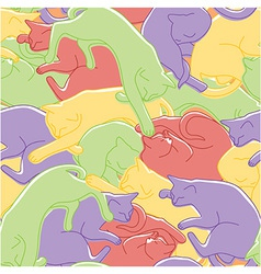 Sleeping cats pattern vector image vector image