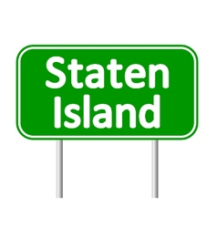 Staten Island green road sign vector